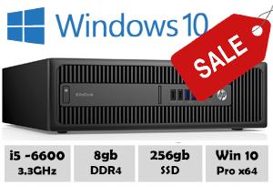 HP 800 G2 i5 6600 @ 3.30GHz 8gb 256gb SSD Win10