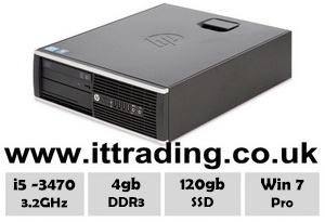 HP 8300 Elite i5 3470 @ 3.20GHz 4gb 120gb SSD Win7