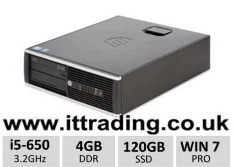 HP 8100 Elite i5 650 @ 3.20GHz 4gb 120gb SSD Win7