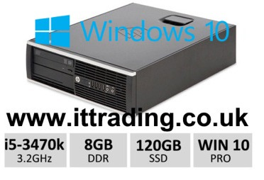 HP 8300 Elite i5 3470 3.20GHz 8gb 120gb SSD Win10