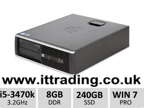 10 x HP8300 Elite i5 3470 3.20GHz 8gb 240gb SSD W7