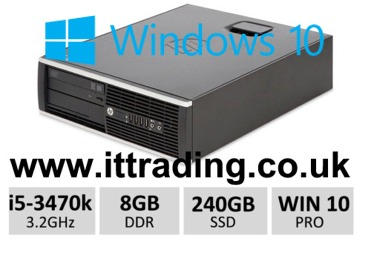 HP 8300 Elite i5 3470 3.20GHz 8gb 240gb SSD Win10