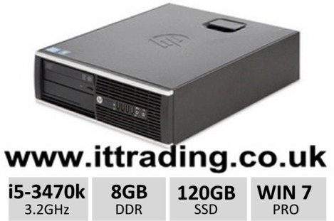 10 x HP8300 Elite i5 3470 3.20GHz 8gb 120gb SSD W7